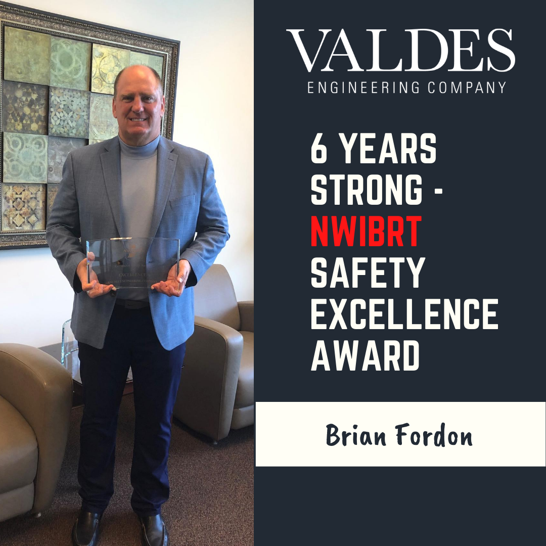 Valdes Receives NWIBRT Safety Excellence Award