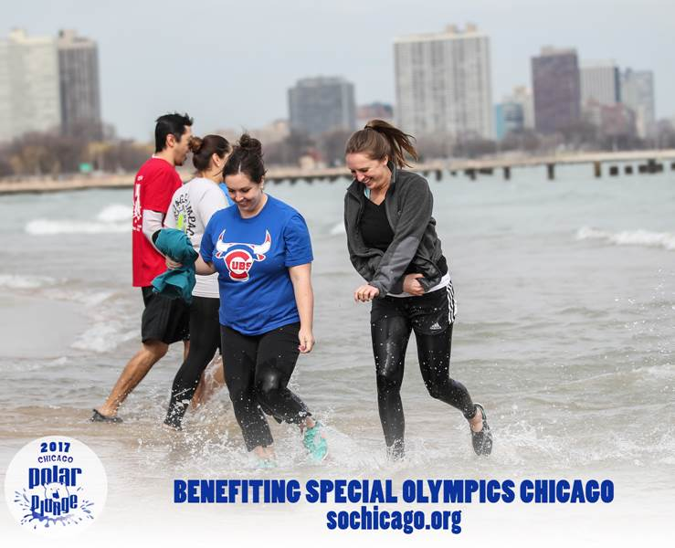 "We were ""freezing for a reason"" at the Chicago Polar Plunge!"